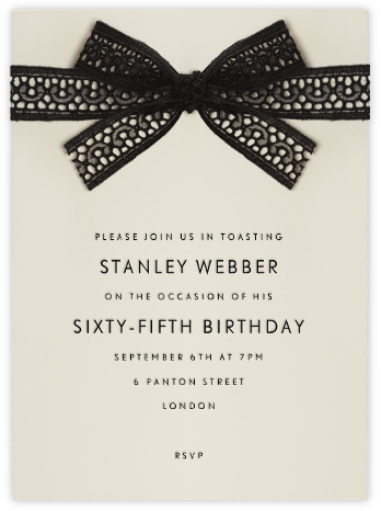 Merletto - Paperless Post - Adult Birthday Invitations