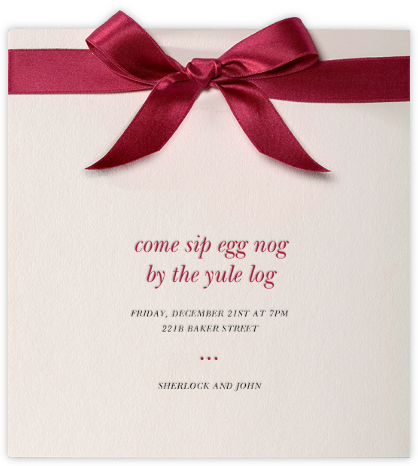 Moorish Silk - Paperless Post - Christmas invitations