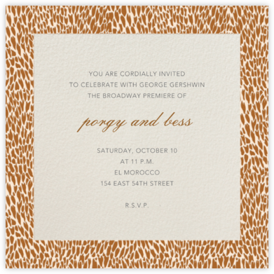 Oblong (Dark Tan) - Paperless Post - Online Party Invitations