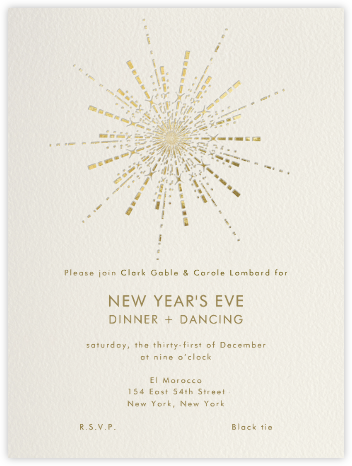 Ornate Fireworks - Paperless Post - New Year's Eve Invitations