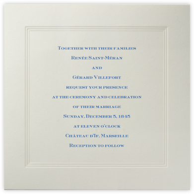 Parthenon (Large Square) - Paperless Post - Wedding Invitations