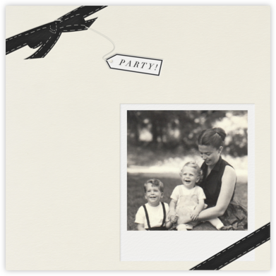 Party Favor - Cream with Black - Paperless Post -