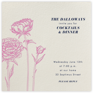 Peonies (Cream) - Paperless Post - Spring Party Invitations