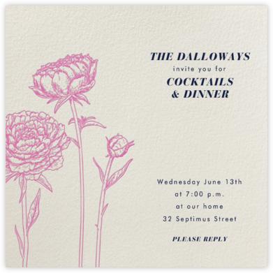 Peonies (Cream) - Paperless Post - Online Party Invitations