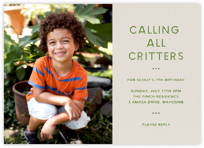 Photo Spread - Cream - Paperless Post - Online Kids' Birthday Invitations