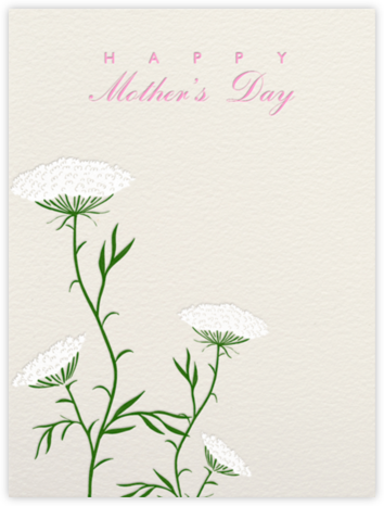 Queen Anne's Lace (Cream) - Paperless Post - Mother's Day Cards