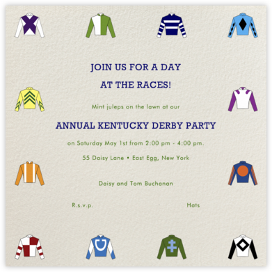 Racing Silks - Paperless Post - Viewing Party Invitations