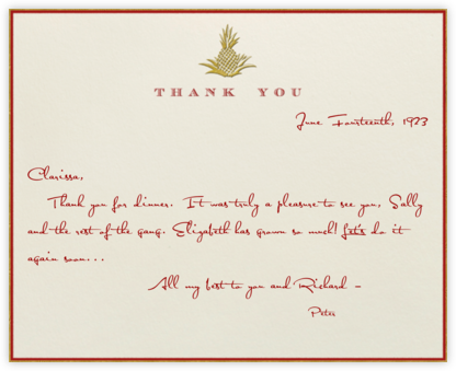 Pineapple Thank You (Red) - Paperless Post - Thank you notes