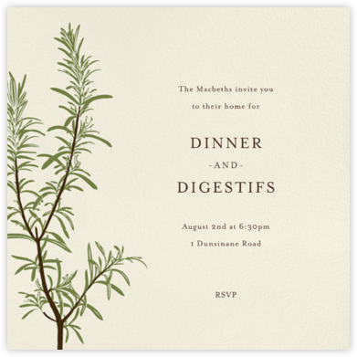 Rosemary - Paperless Post - Invitations for Entertaining