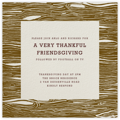 Rosewood (cream) - Paperless Post - Thanksgiving invitations