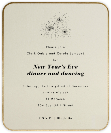 Saint Germain - Paperless Post - New Year's Eve Invitations