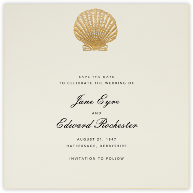 Scallop Shell - Gold - Bernard Maisner - Engagement party invitations