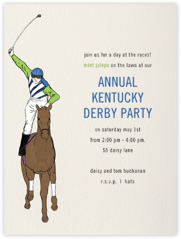Seabiscuit - Paperless Post - Sporting Event Invitations