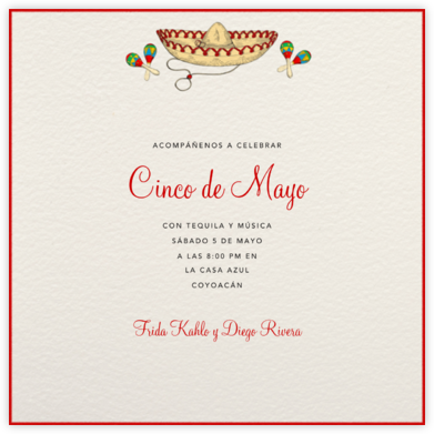 Sombrero - Paperless Post - Cinco de Mayo Invites