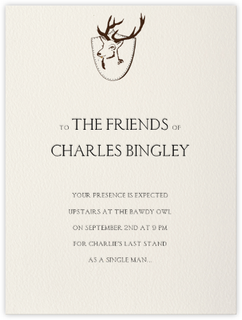 Stag - Paperless Post - Bachelor party invitations