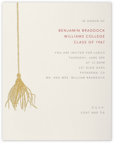 Tassel Card  - Paperless Post - Celebration invitations