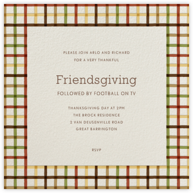 Tattersall (Square) - Paperless Post - Thanksgiving invitations