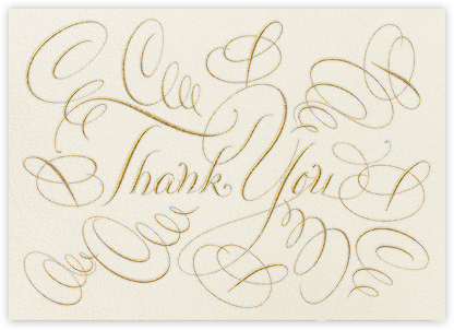 Thank You - Cream - Bernard Maisner - Online Thank You Cards