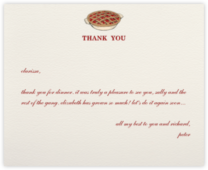 Thank You Sweetly - Cream - Paperless Post -