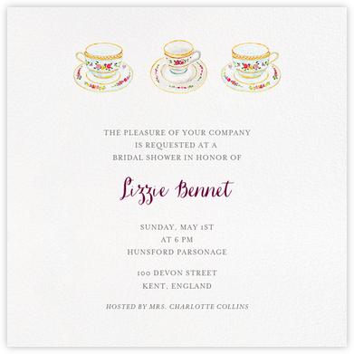 Three Cups of Tea - Paperless Post - Bridal shower invitations