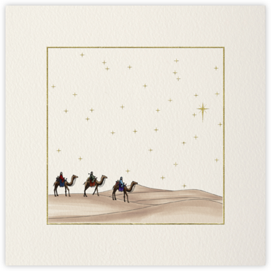 Three Traveling Magi - Paperless Post - Religious Christmas Cards