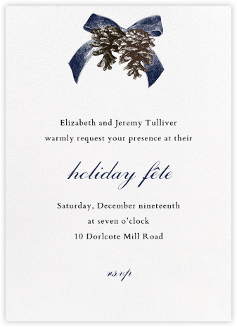 Winter Pine - Blue - Paperless Post - Company holiday party