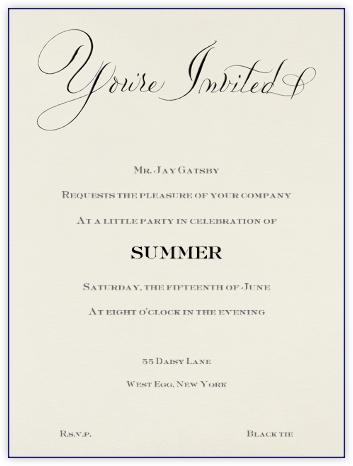 You're Invited - Blue - Bernard Maisner -