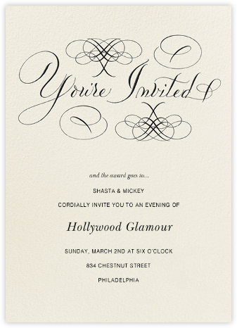 You're Invited - Cream - Bernard Maisner - Bernard Maisner Invitations