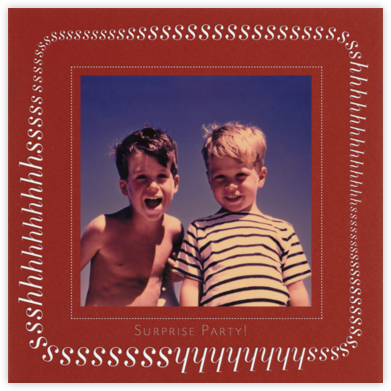 Keep It Quiet - Crimson - Paperless Post -