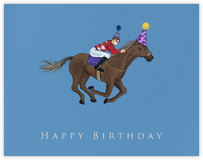 Thoroughbred Birthday (Dempsey Blue) - Paperless Post -