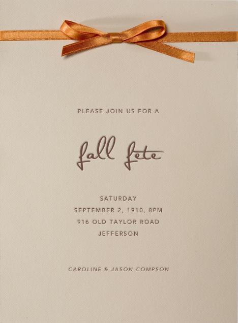 Autumn entertaining invitations online at Paperless Post