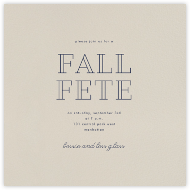 Santa Fe (Square) - Paperless Post - Fall Entertaining Invitations