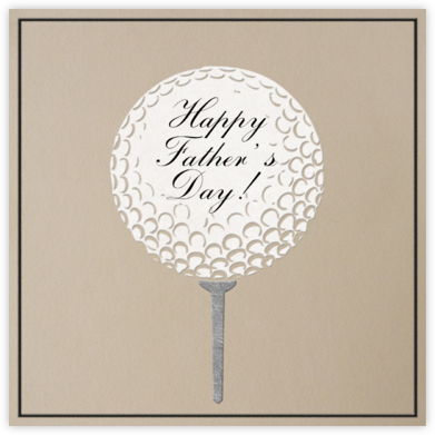 Golf Ball - Dune - Paperless Post - Father's Day Cards