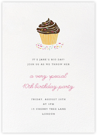 Sprinkles and Icing - Paperless Post - Invitations