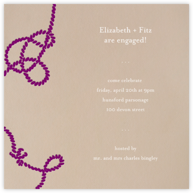 Wedding Knot (Dune) - Paperless Post - Engagement party invitations