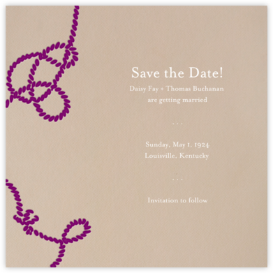 Wedding Knot (Dune) - Paperless Post - Save the dates
