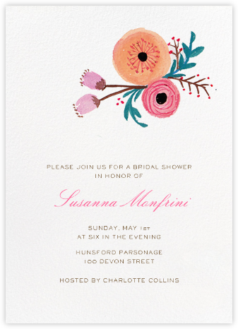 Pocket Full of Cool Flowers - Paper + Cup - Bridal shower invitations