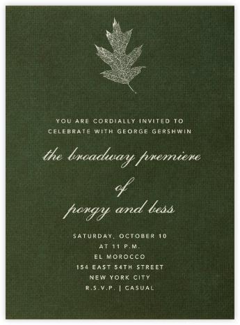 Green Velvet - Paperless Post - Invitations