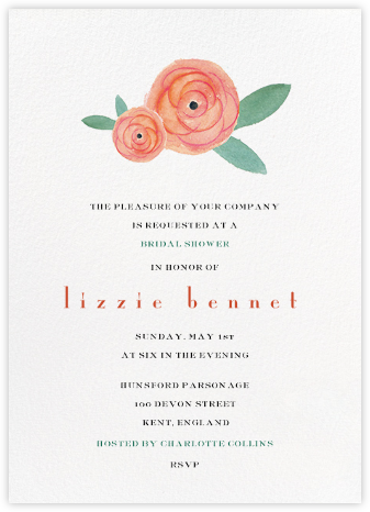 Pocket Full of Breezy Flowers - Paper + Cup - Bridal shower invitations