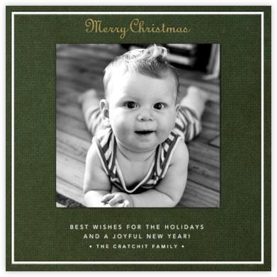 Merry Christmas - Dark Green - Paperless Post -