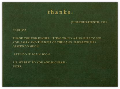 Thanks (Green Velvet) - Paperless Post -