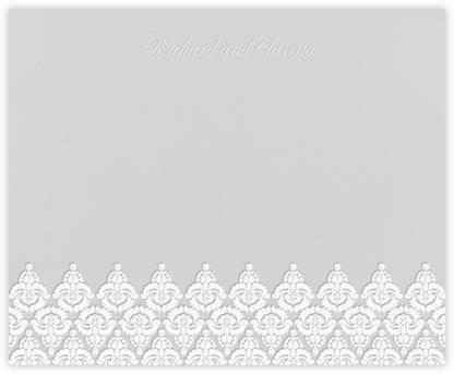 Brocade - Fog with Ivory (Horizontal) - Paperless Post -