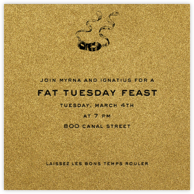 Fort Knox (Square) - Paperless Post - Mardi Gras invitations