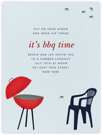 BBQ and Mosquito - Paperless Post - Summer entertaining invitations