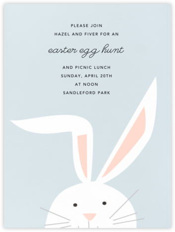 Bunny - Frost - Paperless Post - giggle
