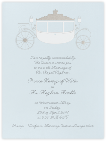 Carriage - Glacier - Paperless Post - Wedding Invitations