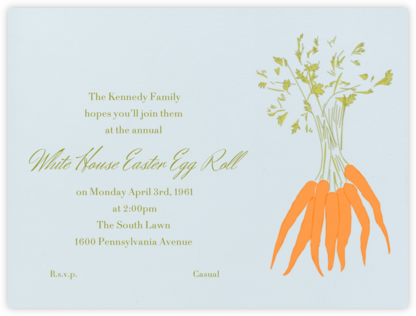 Carrots - Paperless Post - Easter invitations