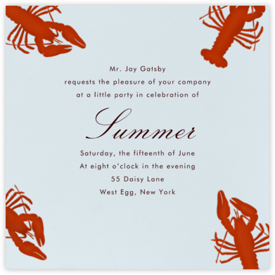Crawfish - Paperless Post - Summer entertaining invitations