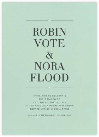 Mint (Invitation) - Paperless Post - Wedding Invitations