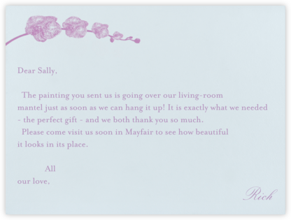Orchid - Frost with Lilac (Thank You) - Paperless Post - Wedding thank you notes